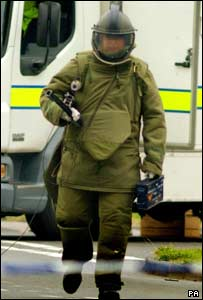 Bomb disposal officer in Birmingham