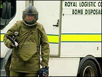 Bomb disposal officer in Birmingham