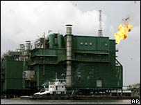 Shell platform in Odidi, Niger Delta 