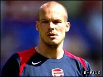 Arsenal midfielder Freddie Ljungberg