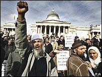 متظاهرون مسلمون في لندن