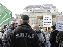 Muslims in Trafalgar Square