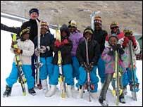 Child skiers
