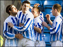 Danny Invincibile (left) sealed the points for Killie