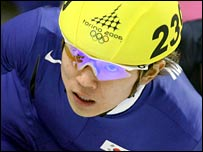 Ahn Hyun-soo in action to winning gold in Turin