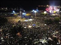 P�blico en el concierto de los Rolling Stones en Copacabana