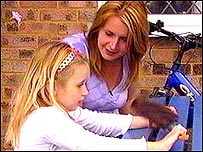 Michelle Chambers and her daughter Jade