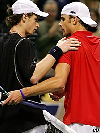 Andy Murray and Andy Roddick