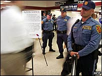 US police on New York subway