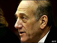 Acting Prime Minister Ehud Olmert