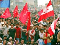 Pro-democracy rally in Kathmandu