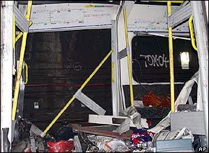 Aldgate train carriage. ABC picture