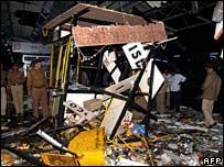 Debris after blast at Ahmedabad station