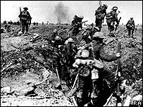 British troops at the Battle of the Somme