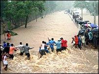 Monsoon rains in Mumbai