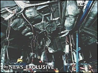 ABC picture of a Tube carriage wrecked in the blast near King's Cross