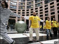 People protesting against software patents, AFP/Getty