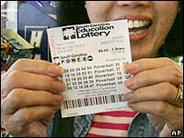 A US lottery ticket. File photo