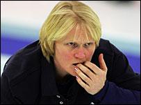 GB curling skip Rhona Martin