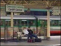 Cardiff Central train station