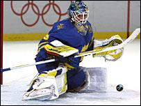 Rookie Sweden goalie Henrik Lunqvist