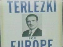 Stefan Terlezki 1980s election poster
