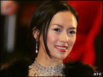 Ziyi Zhang, who stars in Memoirs of a Geisha