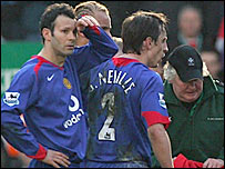 Ryan Giggs (left) and Gary Neville
