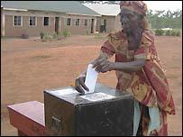 Lone voter