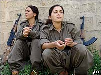 PKK members in northern Iraq