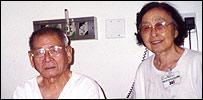 Shoji Mukai y su esposa