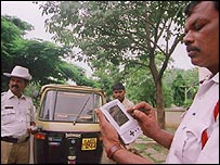 Simputer in use in Bangalore