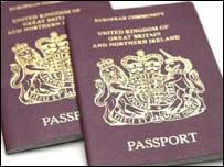 British passports, BBC