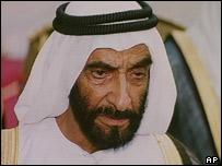 Former UAE President Sheikh Zayed Bin-Sultan Al Nahyan