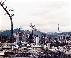 Árboles que sobrevivieron en Hiroshima (Gentileza: Museo de la Paz de Hiroshima)