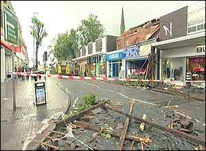 Debris litters Kings Heath High Street
