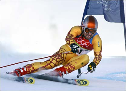 Canada's Francoic Bourque races in the men's giant slalom
