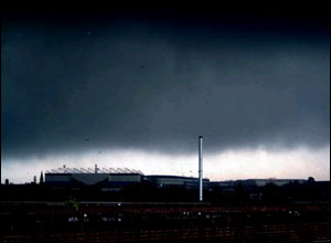 Images of storm taken from Custard Factory in Digbeth - Picture: Steve Best