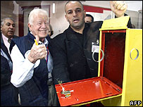Jimmy Carter monitoring Palestinian elections