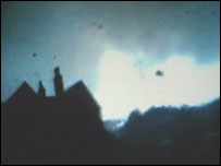 Amateur footage of the Birmingham tornado