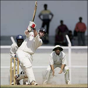 England's Ian Blackwell hits out