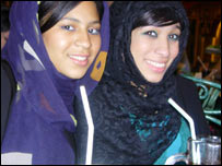 Fatima (right) and Sarah from Sharjah, UAE