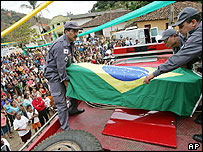 Coffin of Jean Charles de Menezes
