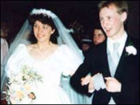 Beth's sister Sharon with her husband Alan - who survived the blast