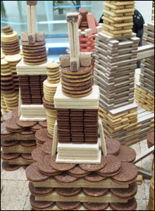 Building made of biscuits