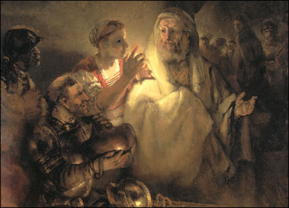 Rembrandt's Denial of St Peter