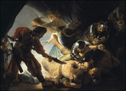 Rembrandt's The Blinding of Samson