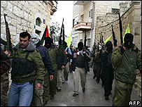 Militants parade through Bethlehem