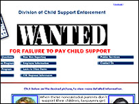 Poster of Mississippi's most-wanted parent who have not paid child support