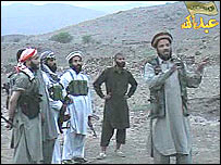 A clip from a propaganda DVDs produced by militants